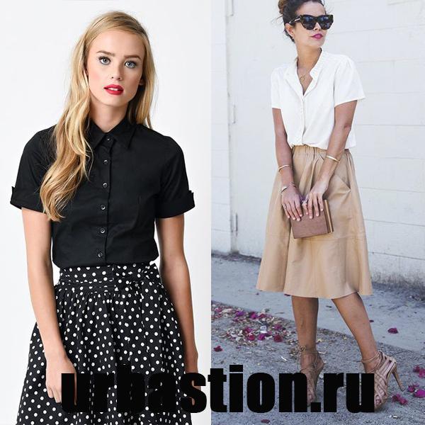 0264263d40f Деловой девушке рекомендуем обратить внимание на блузку с коротким рукавом  и воротником
